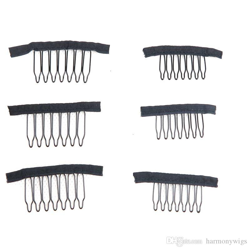 7Teeth Wig Combs Clips Кружева Парик Клипы Приложите крышки WIG COMBS Вставить парики клипы наращивания волос