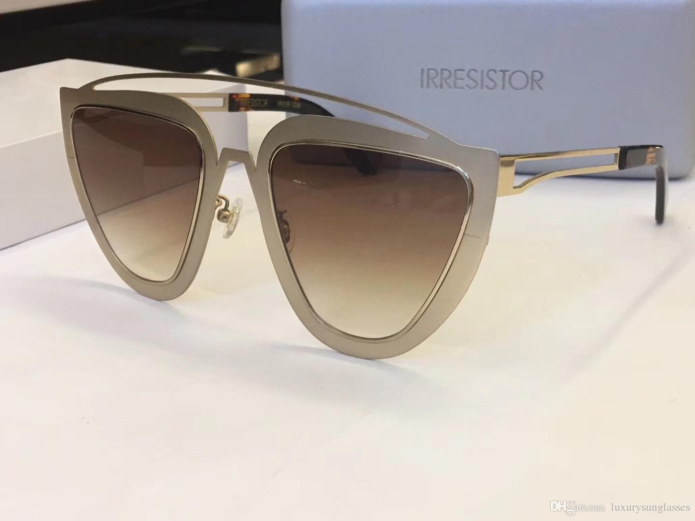 9a5ab73f8f1 IRRESISTOR Popular Women Brand Design Oval Sunglasses Fashion Model Vintage  Cat Eye Sunglasses Mirror Lens Summer Style With Original Case IRRESISTOR  ...