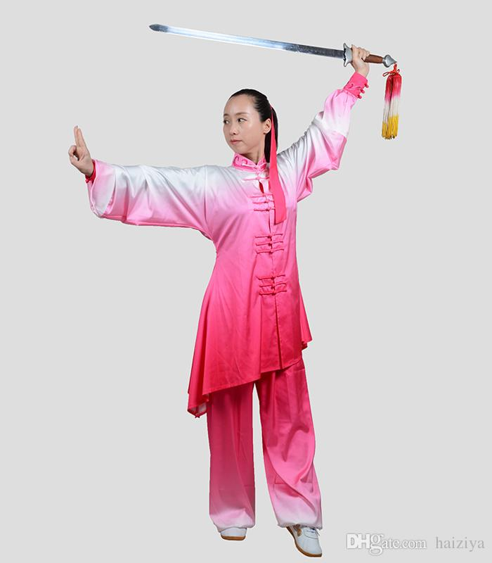 Chinese Tai chi uniform Kungfu clothing taiji sword clothes wushu suit performance apparel Martial art costume for women children girl kids