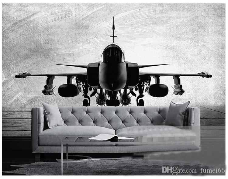 Large Mural Custom Size Background Photography Modern Fighter Black White Bathroom Wall Wallpaper for Living Room Decor Painting
