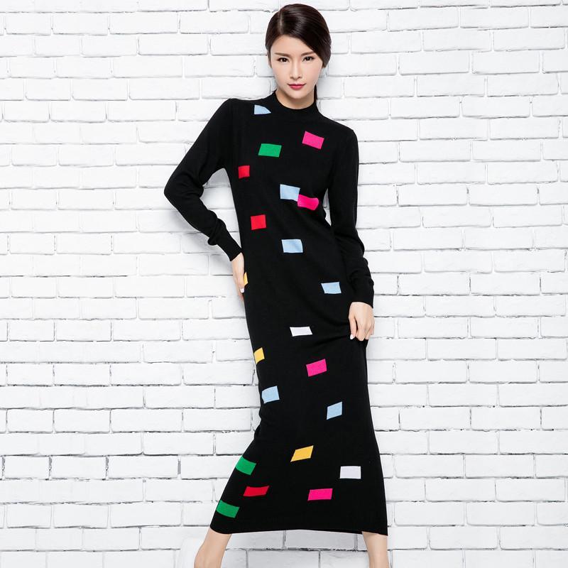 403fe00d336d7 Wholesale- Rectangular Decorative Casual Women Dress Long Fashion ...