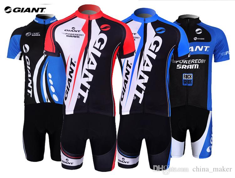 Brand New GIANT Summer Cycling Jersey Sets Quick Dry Road Bike Bicycle Jersey Cycling Kits Pro Cycling Clothing For Outdoor Sports