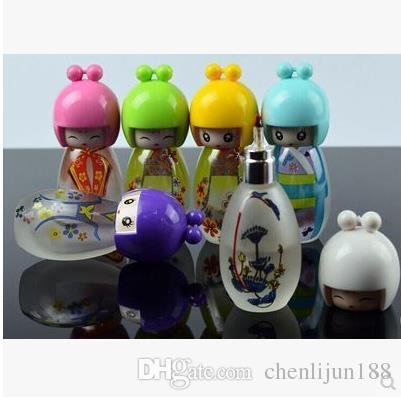 Ultra-cute boneca esfrega lâmpada de álcool de vidro, cor, estilo entrega aleatória, canos de água, bongos de vidro, vidro Hookahs, cachimbo