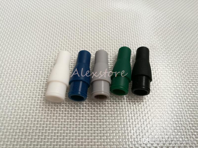 Silicone drip tip replacable mouthpiece colorful Silicon replacement drip tips for mini ago g5 atomizer tank dry herb wax vaporizer vape DHL