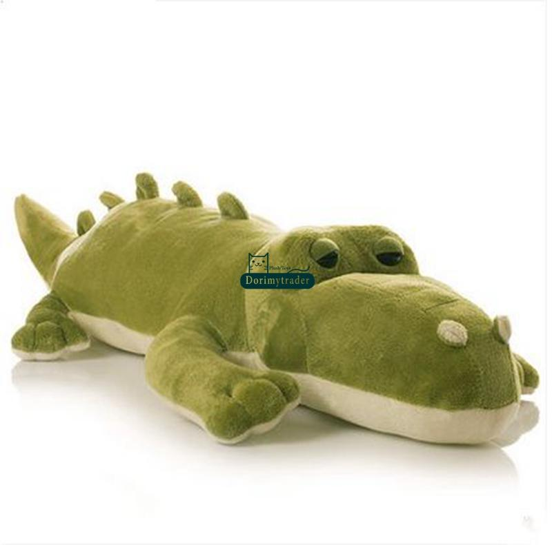 Dorimytrader 45cm Stuffed Soft Plush Crocodile Toy Green Alligator Baby Doll DY61050