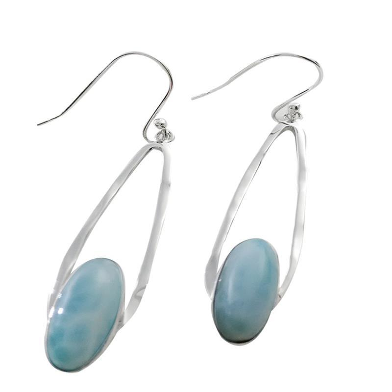 shop eagle sterling larimar earrings teardrop gallery silver