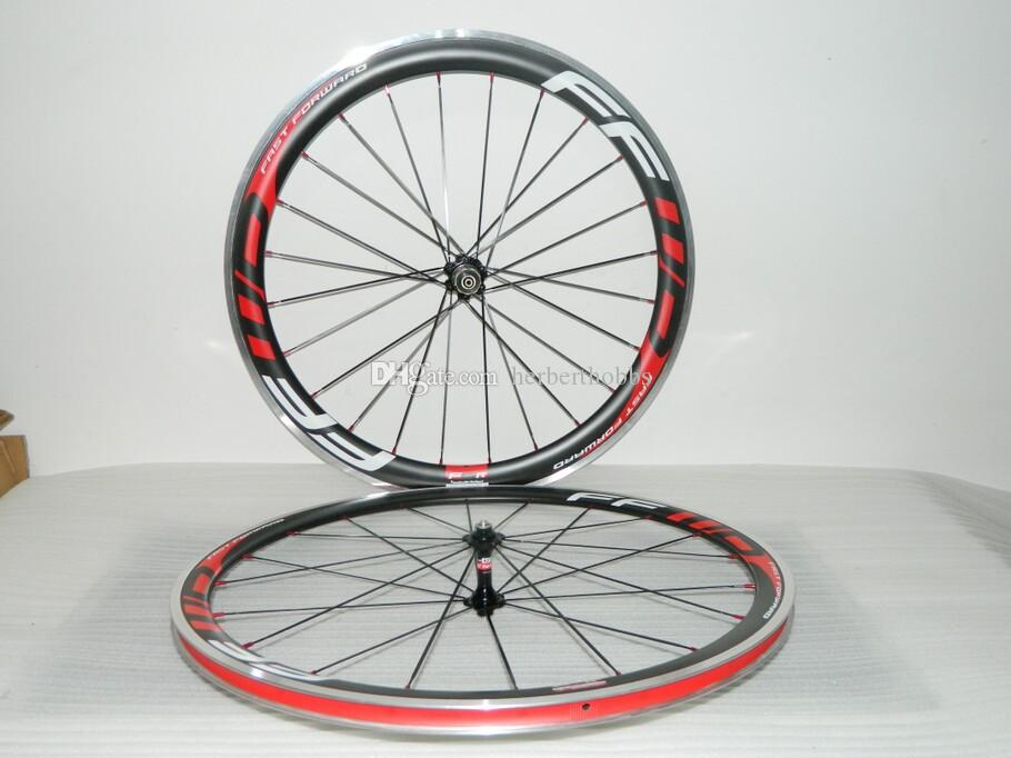 화이트 스포크 FFWD 휠 F5R 50mm Wheelset 스트레이트 풀력 Powerway R36 탄소 허브 전체 탄소 도로 자전거 자전거 바퀴