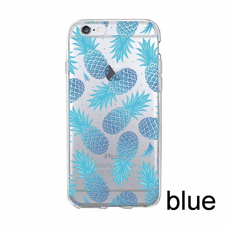 sports shoes beb92 8f8ff Cool Watercolor Penapple Colorful Printed Soft Clear Phone Case For IPhone  7 7Plus 6 6S 5 5S SE 8 8Plus X SAMSUNG Cell Phone Case Wallet Cell Phones  ...