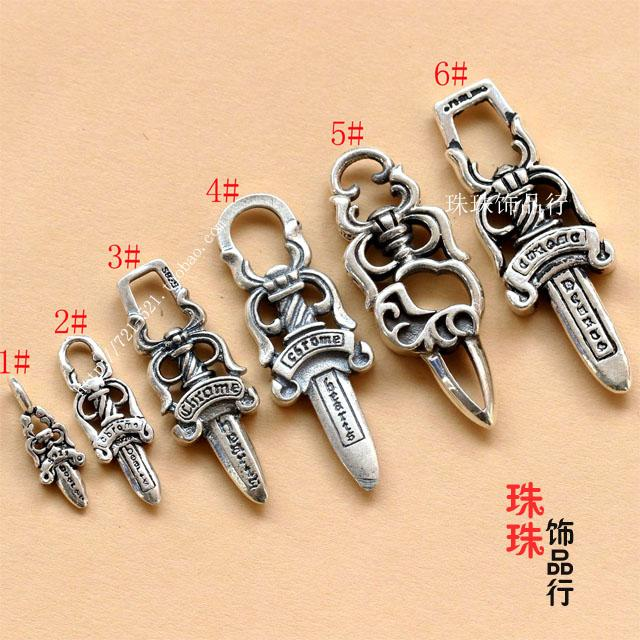 2018 diy chromehearts 925 grams of silver silver intime luo heart 2018 diy chromehearts 925 grams of silver silver intime luo heart sword style buddha pendant chain bracelet with beads from zhoudan5240 2593 dhgate aloadofball Images