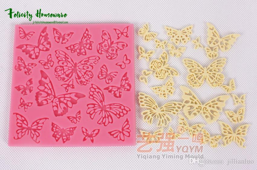 cdf57cbecbc6 2019 New Fondant Cake Butterfly Pattern Silicone Molds Baking Cake  Decorative Lace Silicone Mold Chocolate Molds From Jillianluo, $4.27 |  DHgate.Com