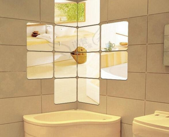 15 см украшения стены акриловые зеркальные декоративные наклейки украшения комнаты DIY Wall Art Home Decor