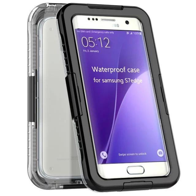 Waterproof Shockproof Pc + Silikon-transparente klare Telefonkasten-Abdeckung für Rand-Anmerkung 5 der Samsung-Galaxie-S6 S7 S7 Anmerkung Waterproof Armor