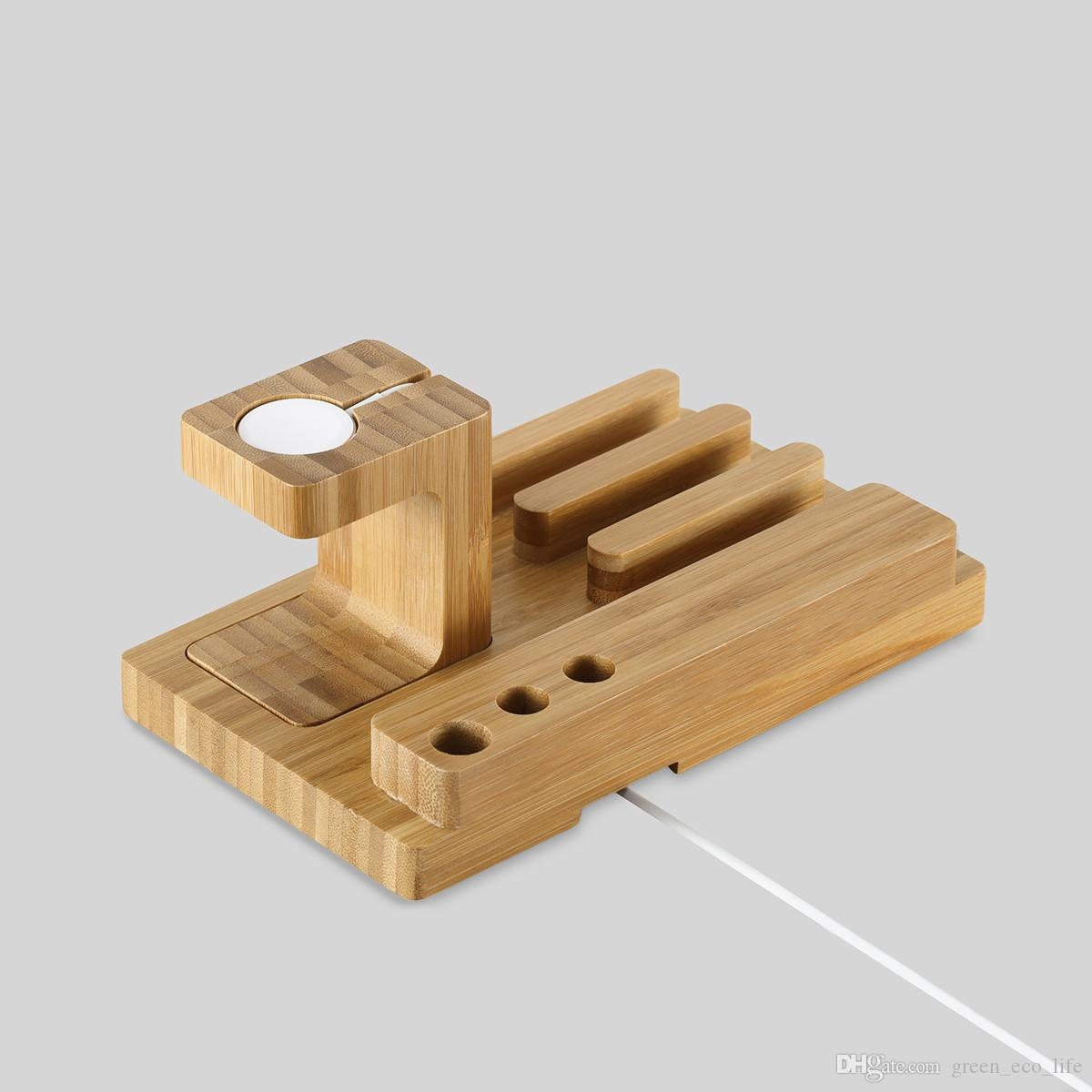 bamboo wood mobile phone holder bracket Cell Phones Mount Tripod Mount Adapter Stand