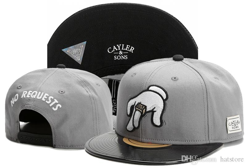 Designer Cayler   Sons NO REQUESTS Snapbacks Hats Grey Black Men Women  Popular Sports Summer Hip Hop Cap Cotton Adjustable Sun Cap TYMY 516 Ball  Caps Fitted ... fed1c64dca0b