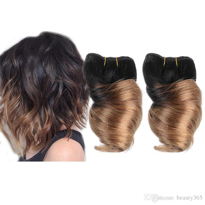 Cheap new fashion 8inch brazilian fumi spring curl hair wefts 100 cheap new fashion 8inch brazilian fumi spring curl hair wefts 100 human hair weave ombre short big loosewave hair extension 50gpc wholesale hair weave pmusecretfo Images