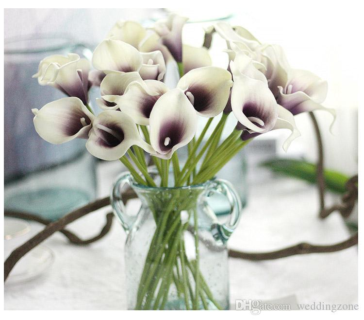 Vintage Artificial Flowers Calla Lily Bouquets 34.5 CM/13.6 inch for Bridal Wedding Bouquet Decoration