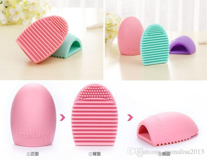 Egg Reinigung Handschuh Make-Up Waschbürste Scrubber Board Kosmetik Brushegg Kosmetik Pinsel Ei 7 Farben Brushegg 2016