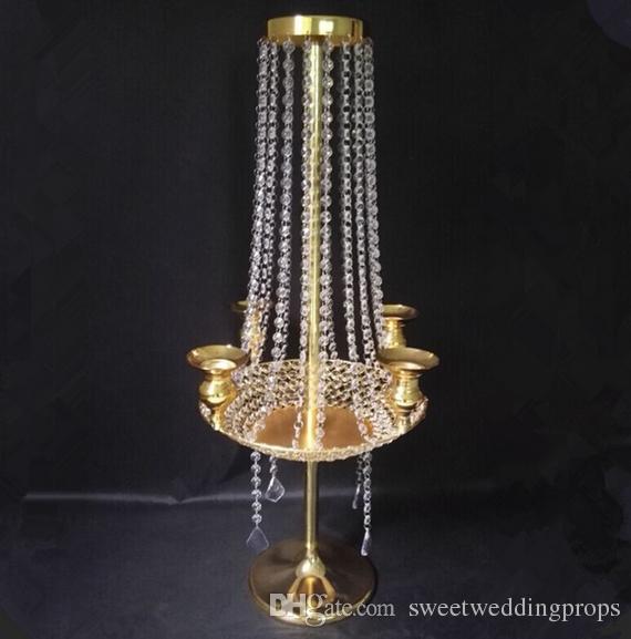 Kristal şamdan, çiçek standı uzun düğün centerpieces, uzun kristal düğün şamdan centerpieces masa