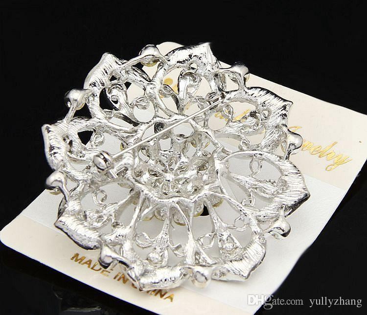 Jewelry Europe And The United States Jewelry Fashion Multicolor Big COLORFUL Flower Crystal Brooch For Women 2016 Wholesale Jewelry B031