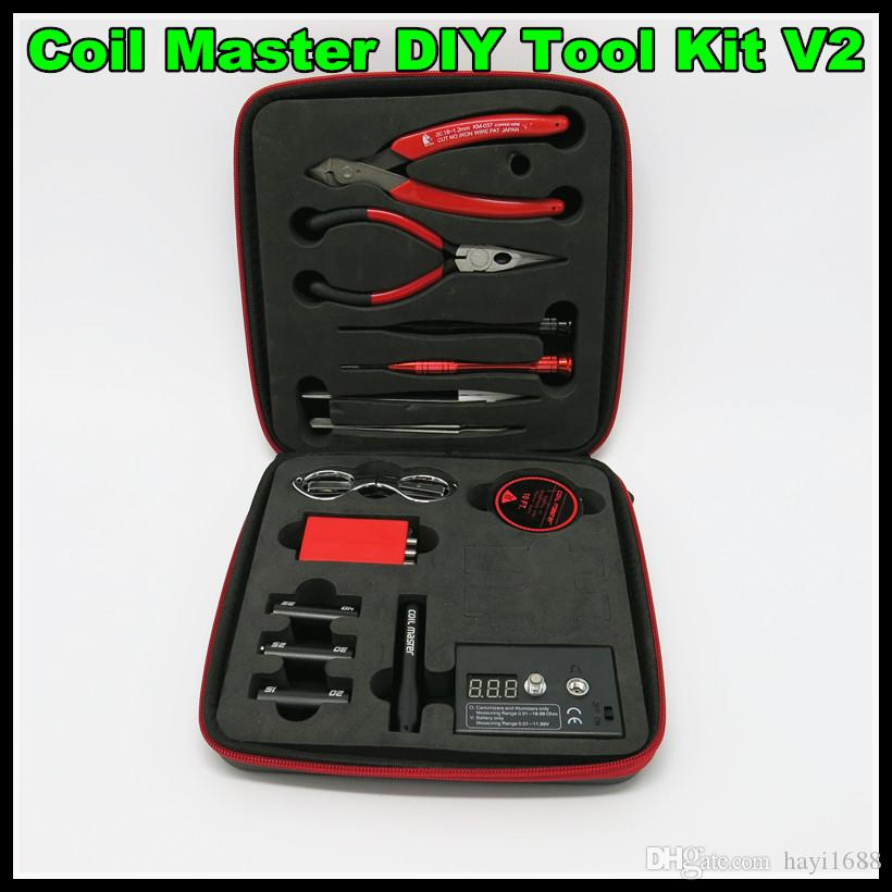 Coil Master DIY RDA Building Tool V2 wick master wire DIY coil jig treezer ohm meter kit for a1 wire RDA coil