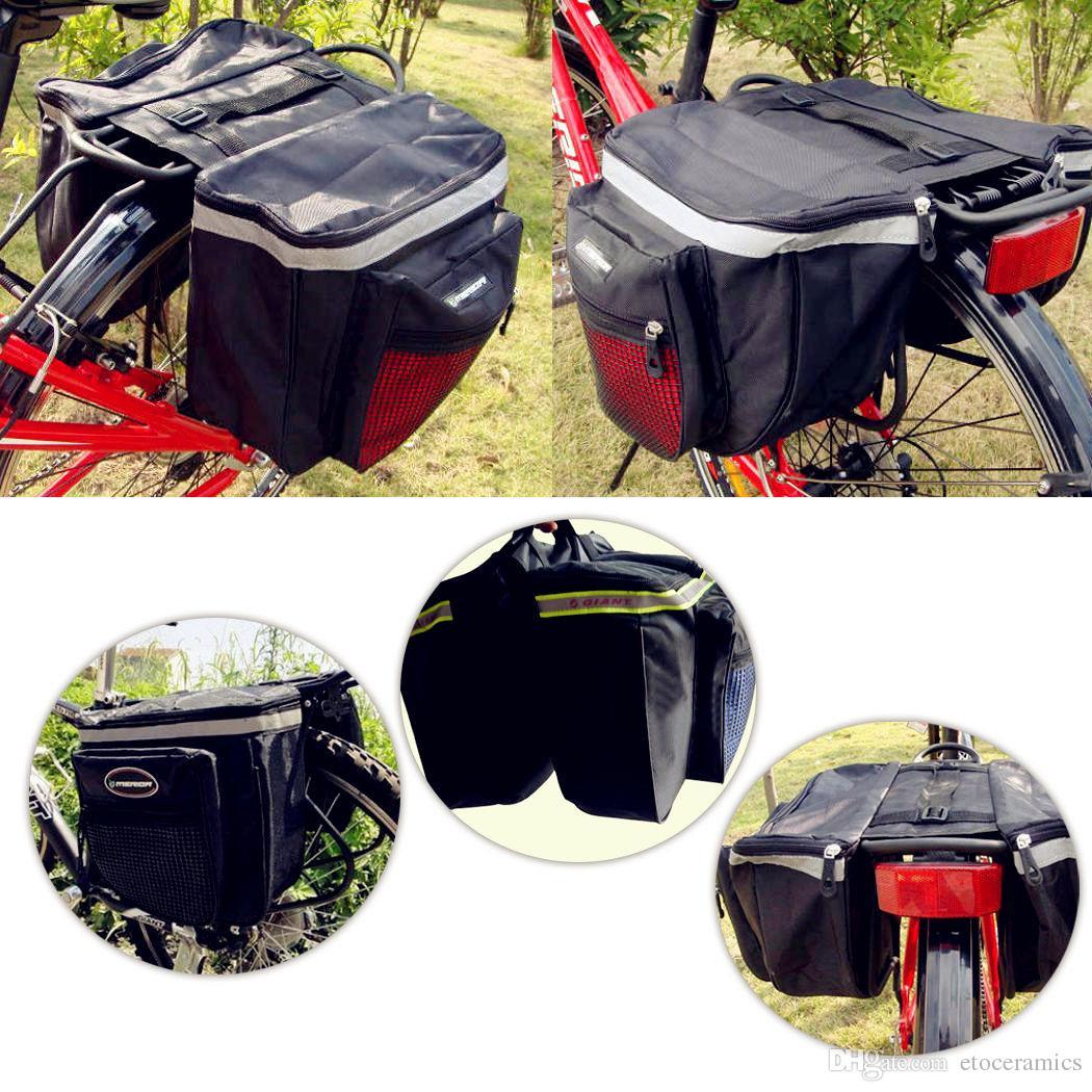 Azul Rojo Negro 2016 fábrica de venta caliente directamente Ciclismo Bicicleta Estante de bicicleta Volver Asiento Trasero Cola Portadora Tronco Bolsas de doble bolsa / Bolsas traseras
