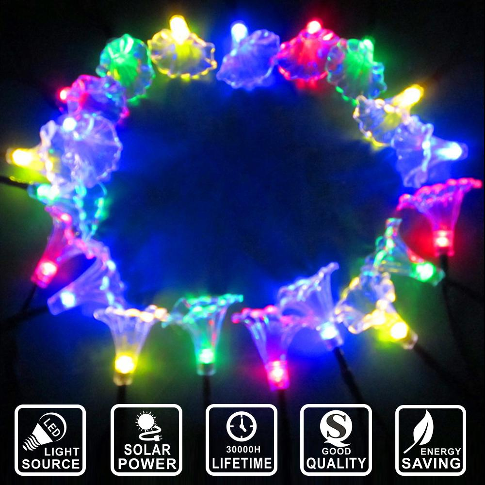 Wholesale Solar Power Morning Glory Waterproof String Fairy Light Garland  Party Holiday Home Decoration Lighting Led String Ligt Iy601019 Led Outdoor  String ...