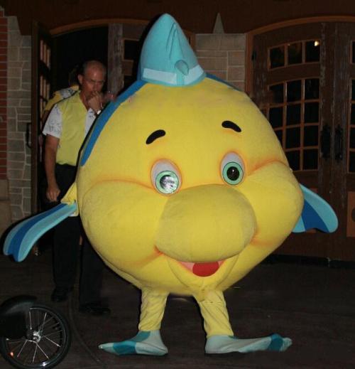 Mascot Park Flounder Little Mermaid Mascot Fish Costume Adult
