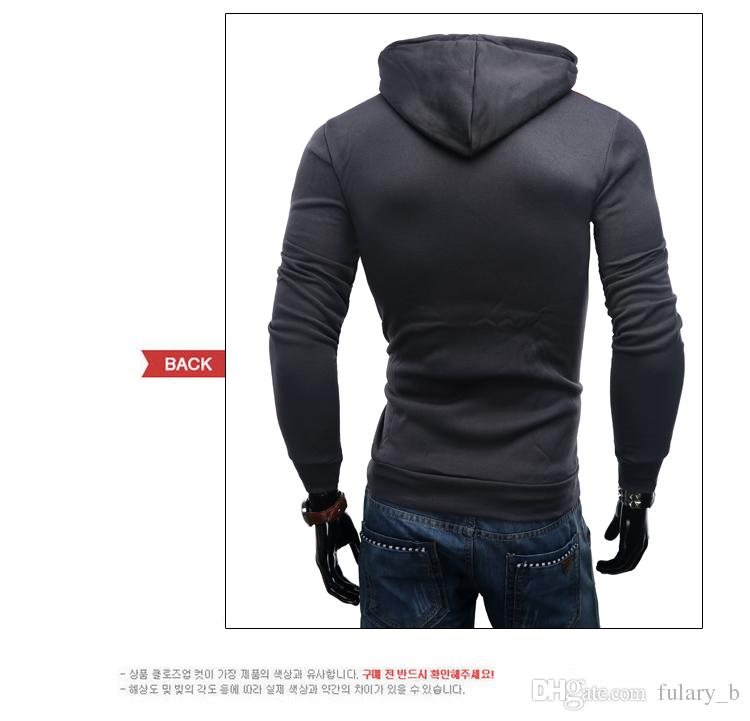 The new Men's Hoodies & Sweatshirts sweater Union Jack printing Cotton casual hooded sweater hedging Men jacket Clothing