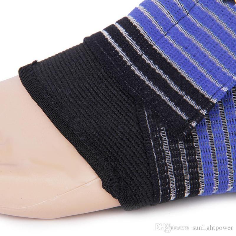 Seguridad deportiva Soporte de tobillo de nylon Protección para el pie Vendaje elástico Soporte de guardia Deporte Protección de la banda de tobillo