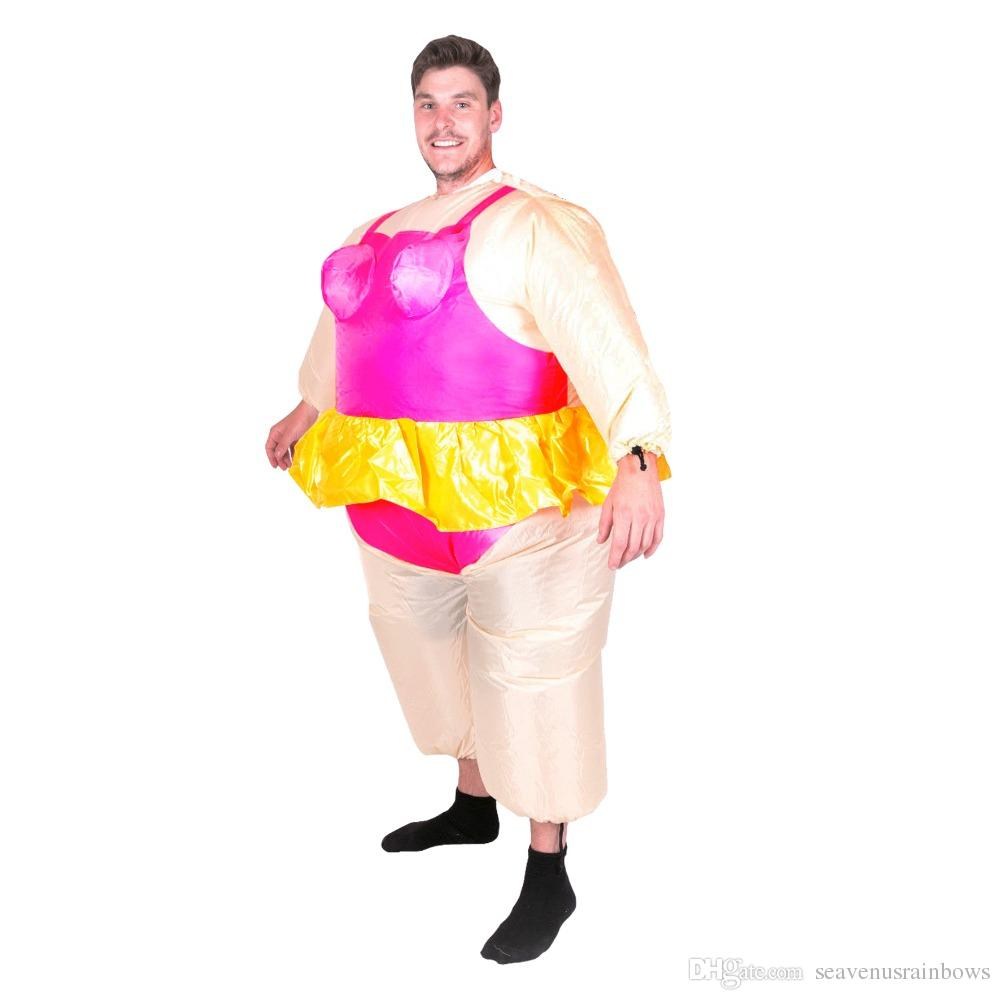 Fat Ballet Funny Ballerina Inflatable Costume With Gold Skirt Gold Crown Super Fancy Dress For Adult Men Opera Stage Halloween Mascot Alice In Wonderland .  sc 1 st  Germanpascual.Com & Ballet Halloween Costume u0026 Inflatable Ballerina Adult Costume Blow ...