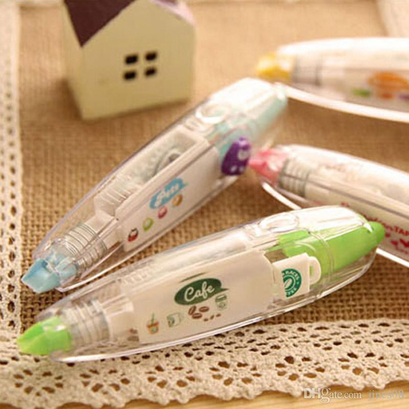 hot New creative cartoon push correction tape with cute lace modified stationery Fashion gift