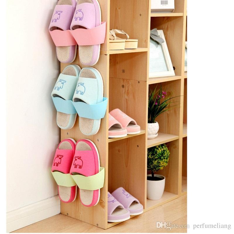 300 шт Бесплатная доставка творческий клей обувь стойку стене висит обувь организатор вешалка крюк высокое качество WA0549