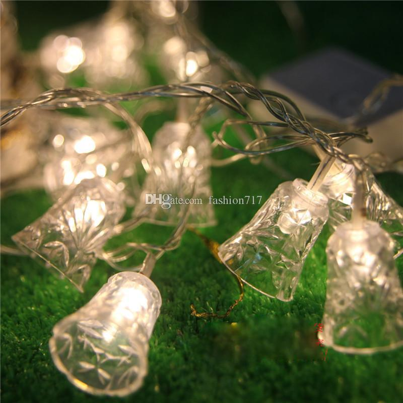 global solar fairy string light 20 led christmas bell lights for gardens lawn patio christmas trees weddings parties indoor and outdoo led christmas