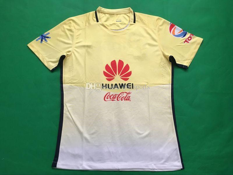 cb3ae52cc ... 2017 16 17 mexico club america men home yellow soccer jerseys best  quality d.benedetto