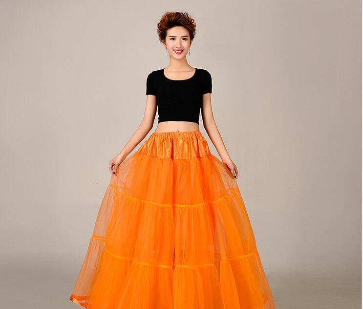 Nueva Europa y los Estados Unidos plantearon largo deshuesado colorido Enagua tul Vestidos de novia de novia Enagua de novia