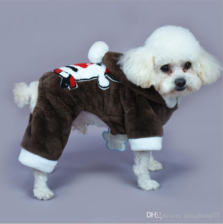 1017002 Creative funny Pet Dog Clothes Christmas Santa Claus reindeer Pumpkin Costumes Cute Puppy Cat Warm Winter Coat Clothing para perros