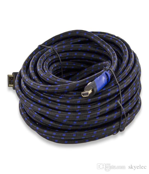 Premium Hdmi Cable Hot 50ft For Bluray 3d Dvd Ps3 Hdtv Xbox Lcd Hd Tv 1080p Usa Protection Cable More Beautiful Dust Protect Hd Converters