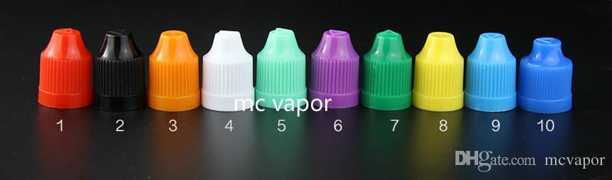 E سيج السائل ه زجاجات زجاجات 5ML 10ML 15ML 20ML 30ML 50ML قطارة فارغة PET البلاستيك قبعات Childproof قبعات طويلة رقيقة إبرة