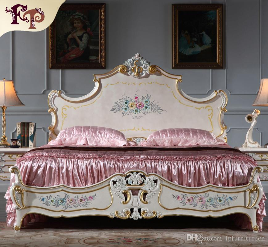 gro handel franz sisch provincial m bel schlafzimmer barock stil doppelbett high end klassiker. Black Bedroom Furniture Sets. Home Design Ideas