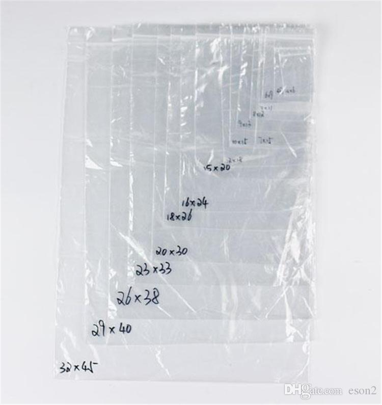 PE Temizle Plastik Torbalar Zip Kilitleri Kilitli Fermuar Poli OPP Kendinden Yapışkanlı Mühür Ambalaj Paket Ambalaj Perakende Geri Dönüşümlü için 7C Küçük Boyutu