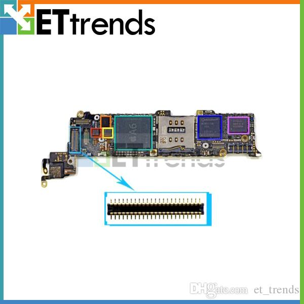 Orijinal Yeni Sayısallaştırıcı FPC Bağlayıcı Teknede iPhone 5 S için Dokunmatik Digitizer FPC Bağlayıcı Replacemnt DHL tarafından ücretsiz kargo