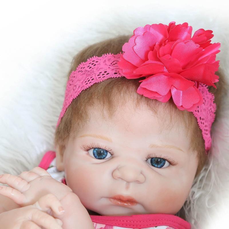 Reborn Baby Doll Realistic 23 pouces Pleine Silicone Vinyle Baby Baby Look Real Princess Fille Collection Poupées Par Poupée NPK