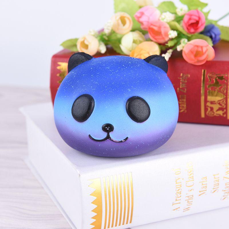 8CM Kawaii Emoji Colorful Face Panda Squishy Bread Slow Rising Fun Kid Toy Cartoon Cake Bun Phone Straps Charms