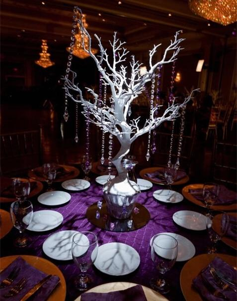 75 Cm Tall White Plastic Manzanita Tree Wedding Table