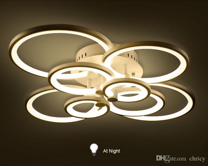 Plafoniere Moderne Led : Acquista plafoniere a led dimmerabili anelli