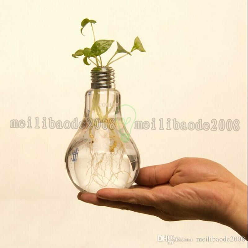 Nouveau Arriver Ampoule transparent vase en verre mode moderne hydroponique fleur vase décoration vase livraison gratuite MYY