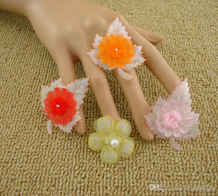 Corée petites fleurs matériaux cheveux tête ornements accessoires de main sacs à chapeau décorés fleurs