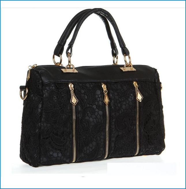 0b97cfe154 Retro Lace Handbag Fashion Women S Lady Faux Leather Tote Crossbody  Shoulder Bag Trendy Lace Sides Soft Dhl Bag005 Handbags Wholesale Purses  For Sale From ...