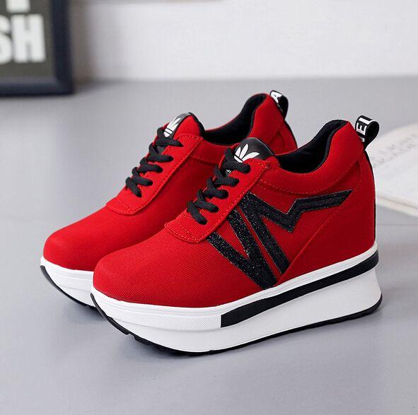 Wedge Heels Canvas Zapatos High Shoes Platform Mujer Ladies grag8