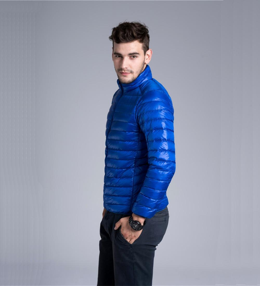 90% Duck Down Mens Winter Jackets And Coats Wellensteyn Ultra Light Thin Warm Outwear Men Jacket Parka Casual Zipper solid